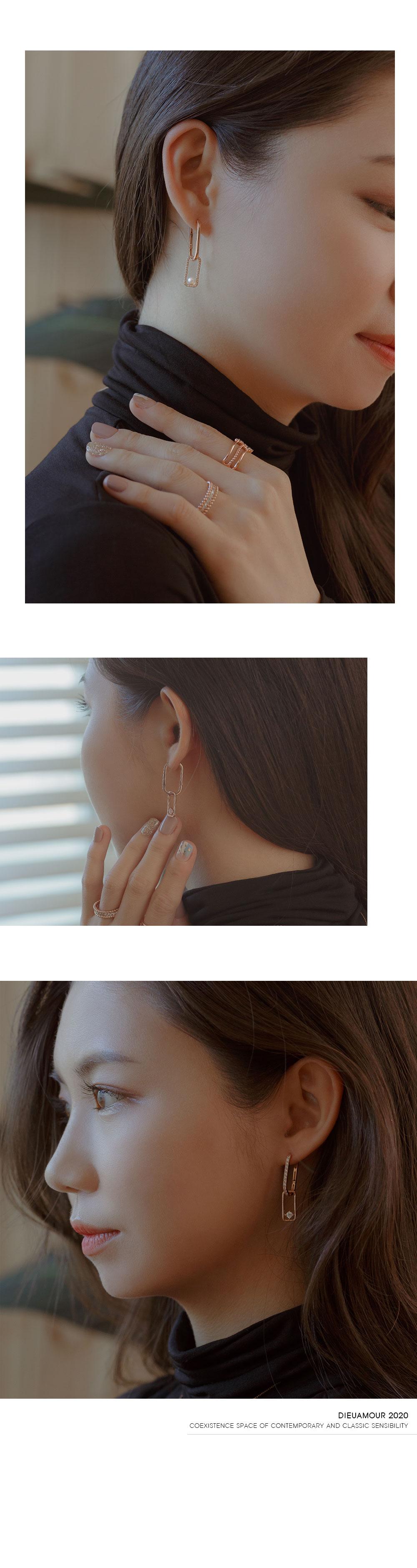 18k 귀걸이 클립 드롭 이어링 - (주)비더블유아이, 604,000원, 골드, 14K/18K
