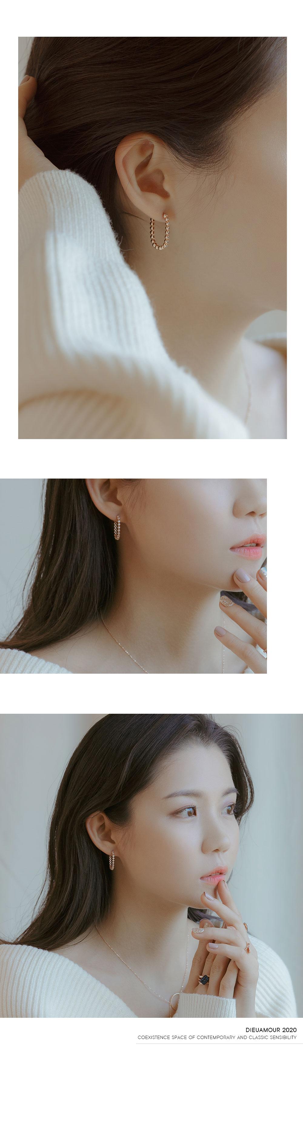 [주문제작] 18k 귀걸이 쁘띠 볼 클립 이어링 - 디유아모르, 596,880원, 골드, 14K/18K